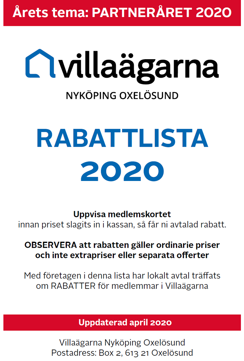 Villaägarna Rabattlistan 800p april 2020